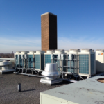 Commercial HVAC Equipment on Building Roof at St. Augustine