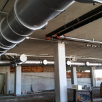HVAC System Piping at the Flats in Cleveland