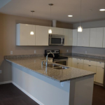 Residential Kitchen in Building at the Flats in Cleveland