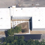 Overhead View of HVAC System on Building Roof