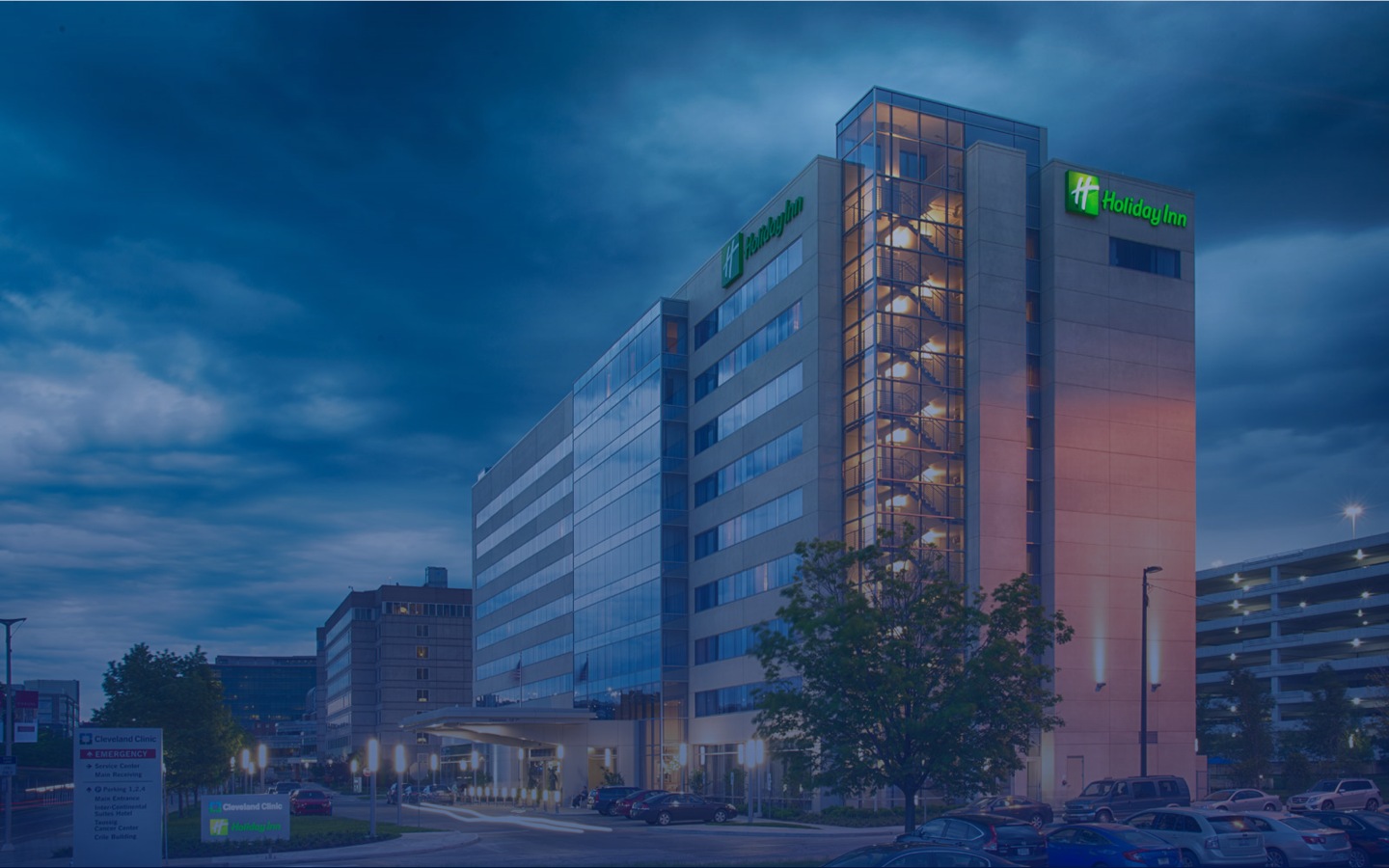 Exterior of Holiday Inn in Cleveland