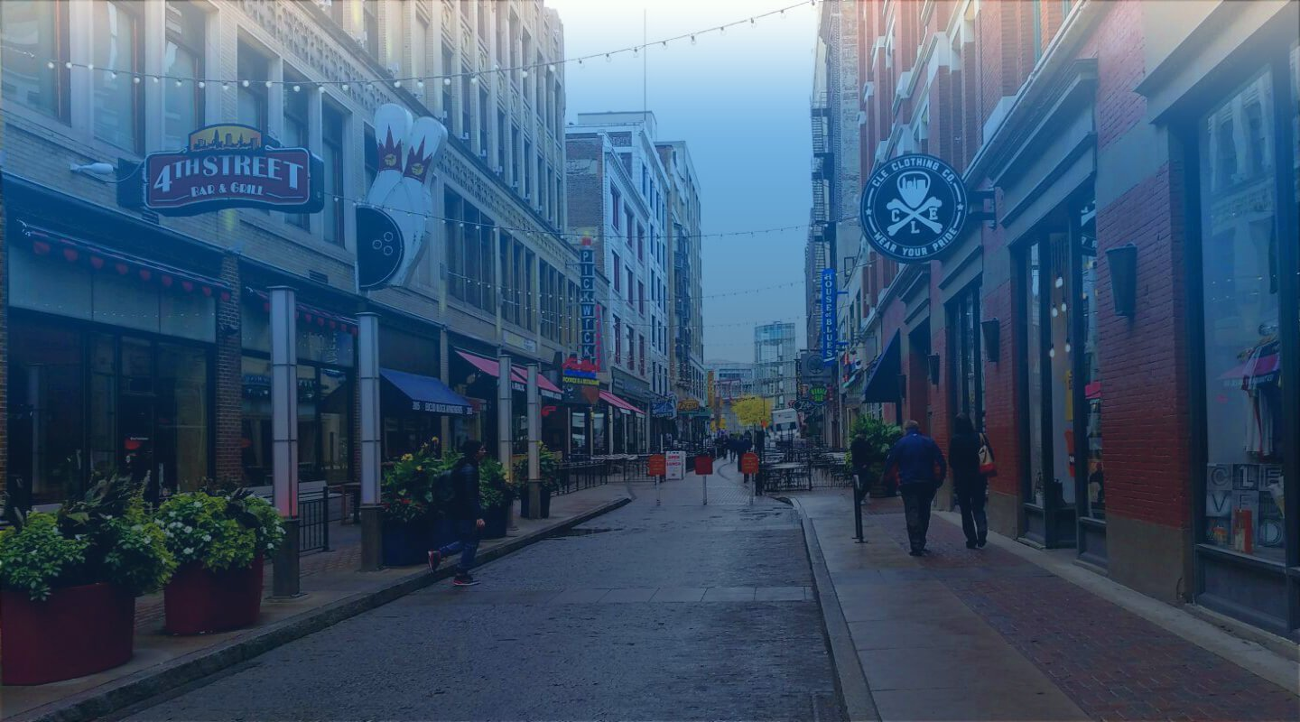 East 4th Street in Downtown Cleveland