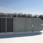 HVAC System on Roof of Commercial Building