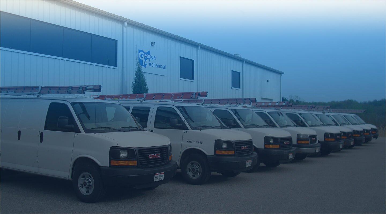 Geauga Mechanical Service Van Fleet