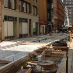 Construction of East Fourth in Cleveland
