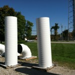 HVAC Ducts on Lawn