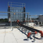 HVAC Cooling Tower on Roof of Building at Case Western Reserve University